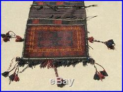 Very Fine Huge Vintage Baluchi Complete Double Cargo Saddle Bag PileBrocadeKilim