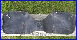 Vtg HARLEY B&S Distressed LEATHER OEM Throw-Over SADDLEBAGS Saddle Bags 91008-82