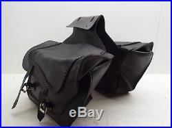 Willie & Max Saddlebags Soft Leather Throw Over Yamaha XVS1100 V-Star 1100 Cust