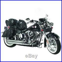 YAMAHA V Star 1100 1300 650 G/LEATHER SADDLE BAGS SET 7PC through over style