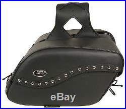 Zip-Off Studded Sticky Close Throw Over Saddle Bag for Harley Honda Series Bikes